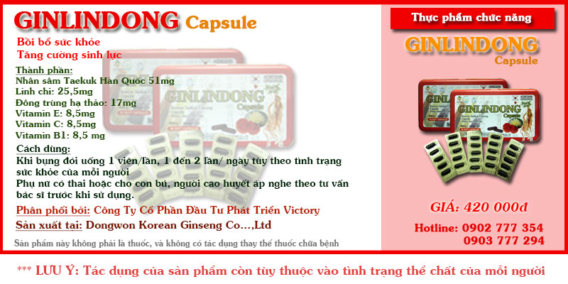 Box Ginlindong capsule